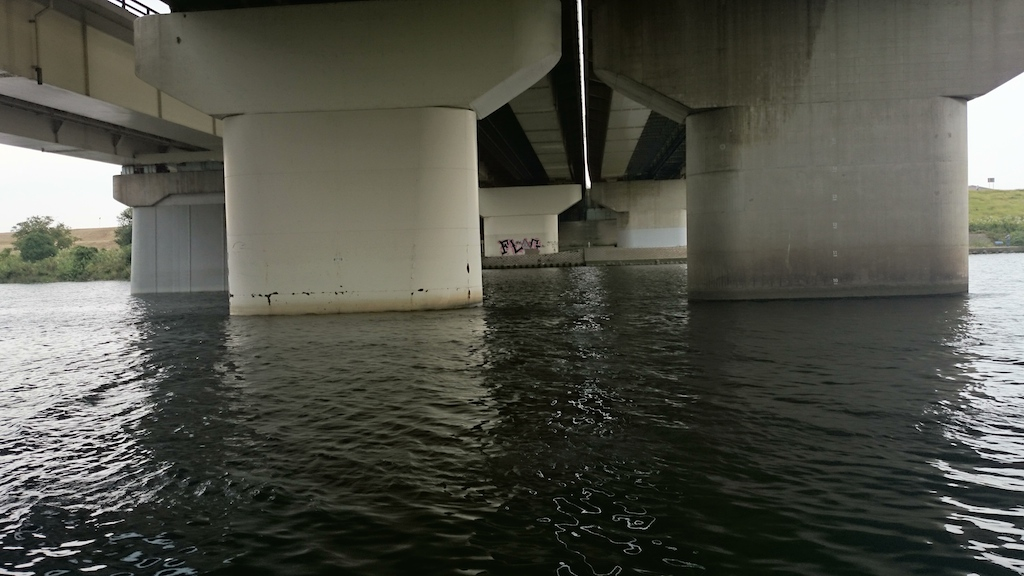 笹目橋の下