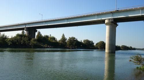 治水橋下流から