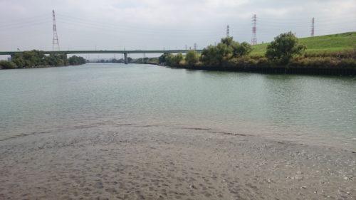 朝霞水門の先端