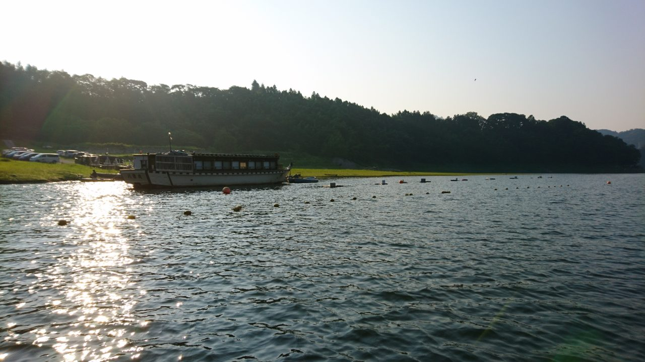 猛暑の津久井湖☆減水・青粉・赤潮・・・?バスはどこへ??