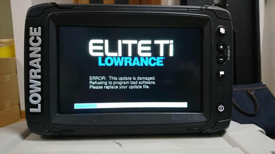 LOWRANCE(ロランス) Elite-7Tiのソフトウェアアップデート