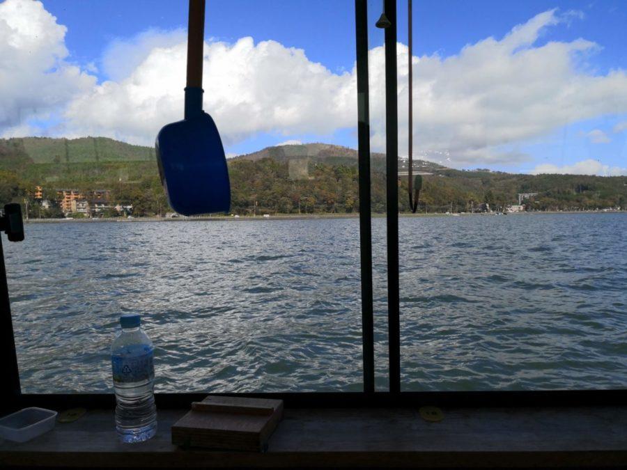 ドーム船でわかさぎ釣り@山中湖