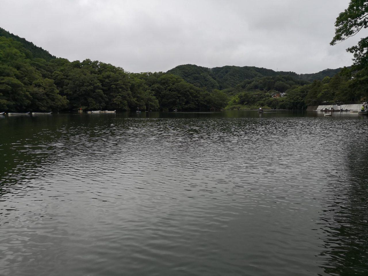 2019年6月29日(土)、梅雨空の下、相模湖でブラックバス