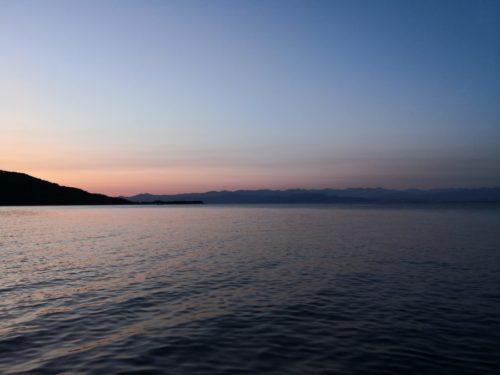 夕暮れな海